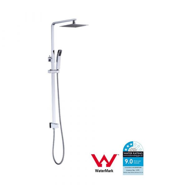Square Double Shower Set With Diagram